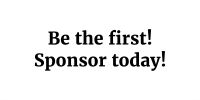 Be the first to sponsor!
